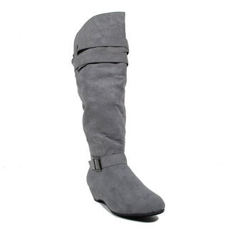 Blue Women's Langie Suede Dress Mid-calf Fashion Boots