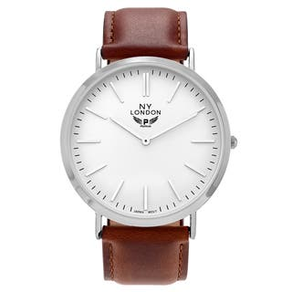 NY London Men's Round Dial Faux Leather Strap Watch|https://ak1.ostkcdn.com/images/products/13024893/P19766611.jpg?impolicy=medium