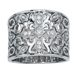 Sterling Silver Diamond Wide Band (H-I, I2-I3)