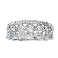 .925 Sterling Silver 1/5ct TDW Diamond Antique Band by Ever One