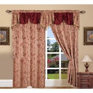 Elegant Comfort Luxury Jacquard Rod Pocket 54-inch Window Curtain Panel Pair