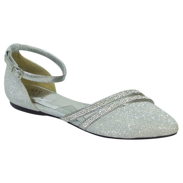 meet on wholesale quality and quantity assured Shop FUZZY Hallie Women's Extra Wide Pointed Toe Ankle Strap ...