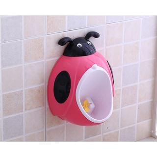 Pink Plastic Ladybug Potty Training Urinal
