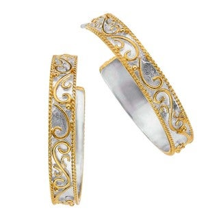 Sterling Silver and Gold Overlay Earrings