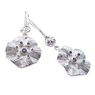 Sterling Silver and Iolite Drop Earrings by Ever One