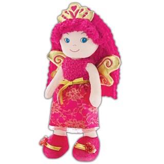 Leila Fairy Princess Fabric Plush Doll - Pink