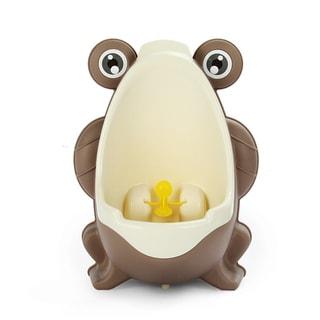 Brown Plastic Frog Potty Training Urinal