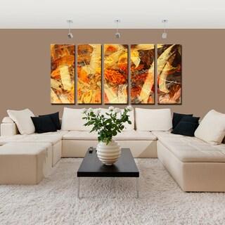 Ready2HangArt 5-Piece 'Painted Petals LXV' Canvas Art Set