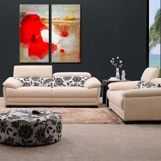Ready2HangArt 2 Piece 'Painted Petals LXII' Canvas Art Set