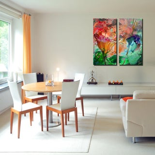 Ready2HangArt 2 Piece 'Painted Petals LXI' Canvas Art Set