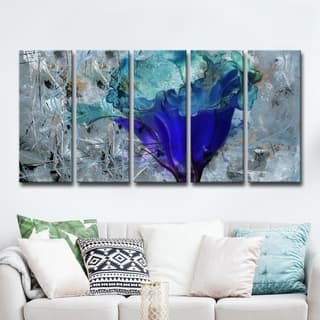 Ready2HangArt 5-Piece 'Painted Petals LX' Canvas Art Set|https://ak1.ostkcdn.com/images/products/13025044/P19766749.jpg?impolicy=medium
