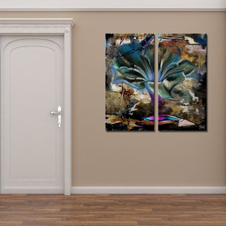 Ready2HangArt 2 Piece 'Painted Petals LVIII' Canvas Art Set