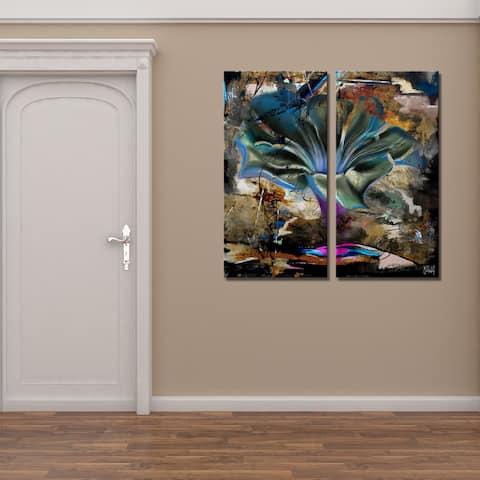 Ready2HangArt 'Painted Petals LVIII' 2-Piece Canvas Wall Art Set
