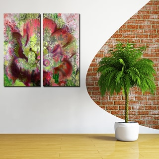 Ready2HangArt 2 Piece 'Painted Petals LVI' Canvas Art Set