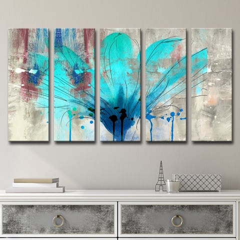 Ready2HangArt 'Painted Petals LII' 5-Piece Canvas Wall Art Set