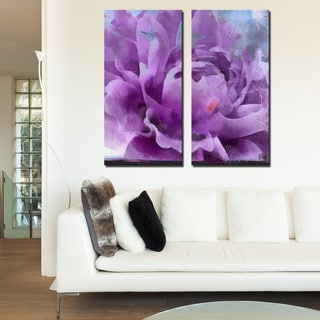 Ready2HangArt 2 Piece 'Painted Petals LI' Canvas Art Set