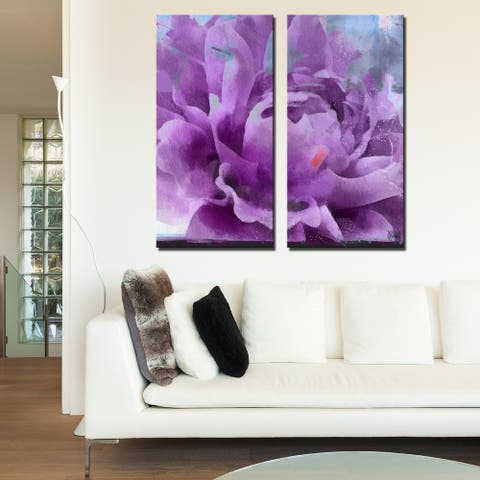 Ready2HangArt 'Painted Petals LI' 2-Piece Canvas Wall Art Set