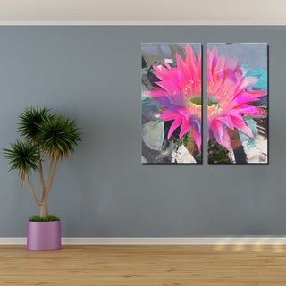 Ready2HangArt 2 Piece 'Painted Petals L' Canvas Art Set