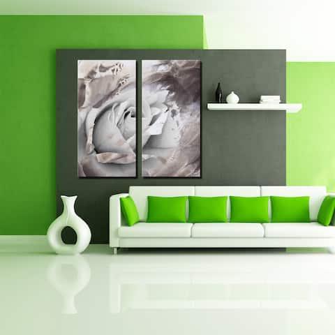 Ready2HangArt 'Painted Petals XLVII' 2-Piece Canvas Wall Art Set