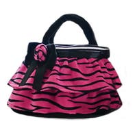 GirlznDollz Toddler Girls' Holiday Hot Pink Zebra Print Purse