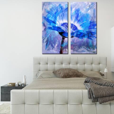 Ready2HangArt 'Painted Petals XLII' 2-Piece Canvas Wall Art Set