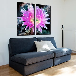 Ready2HangArt 2 Piece 'Painted Petals XLI' Canvas Art Set