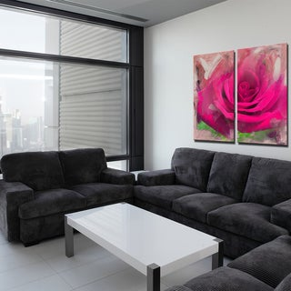 Ready2HangArt 2 Piece 'Painted Petals XL' Canvas Art Set