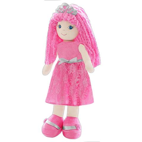 'Leila' Pink/Silver Fabric Lifesize Princess Doll