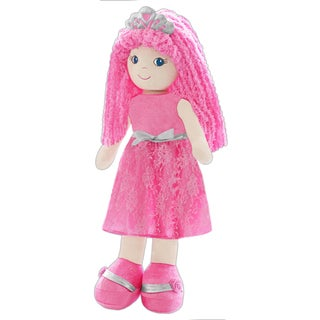 GirlznDollz 'Leila' Pink/Silver Fabric Jumbo Princess Fashion Doll