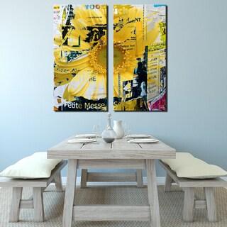 Ready2HangArt 'Painted Petals XCVI' 2 Piece Canvas Art Set