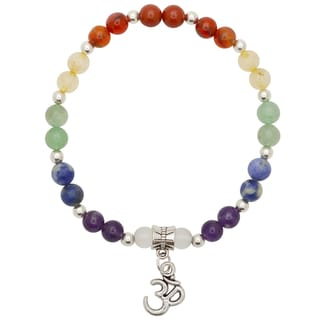 Healing Stones for You 7 Stone Chakra Balance Bracelet