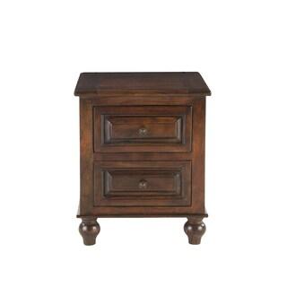 Caleb Chestnut-finish Mango Wood Side Table