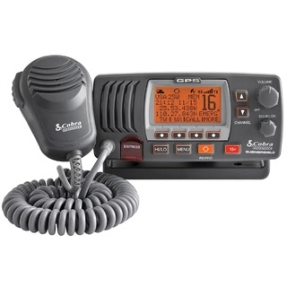 Cobra Electronics MR F77B Grey GPS 25-watt Class D Fixed-mount VHF Radio
