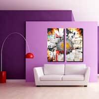 Ready2HangArt 'Painted Petals XCI' 2 Piece Canvas Art Set