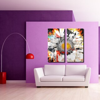 Ready2HangArt 'Painted Petals XCI' 2 Piece Canvas Art Set