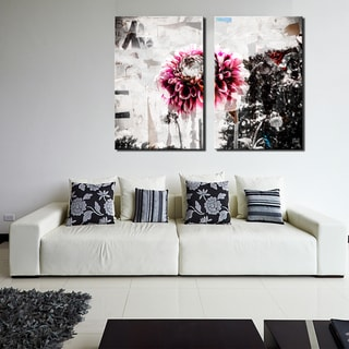 Ready2HangArt 'Painted Petals LXXXVIII' 2 Piece Canvas Art Set