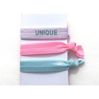 """Be the Envy Boutique 3 Piece """"HAPPY"""" Ponytail HairTies"""