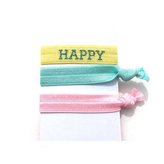 "Be the Envy Boutique 3 Piece ""HAPPY"" Ponytail HairTies"