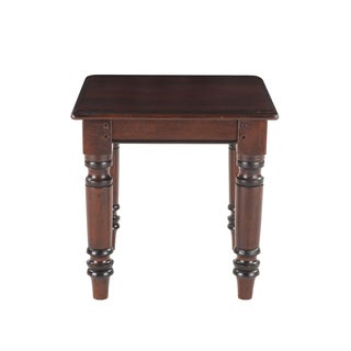 Briva Brown Mango Wood Square Side Table