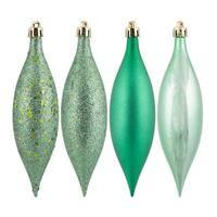 Seafoam Green 4-finish Assortment 4-inch Ball Ornaments (Set of 12)