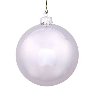 Silver Plastic 3-inch Shiny Ball Ornament (Pack of 12)
