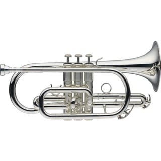 Levante LV-CR5201 Silverplated Bb Cornet with Soft Case