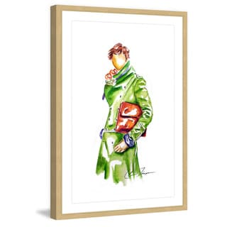 Marmont Hill - 'Green Jacket' by Claire Thompson Framed Painting Print