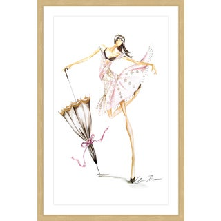 Marmont Hill - 'Dance Umbrella' by Claire Thompson Framed Painting Print