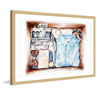 Marmont Hill - 'Adventure Kit' by Claire Thompson Framed Painting Print