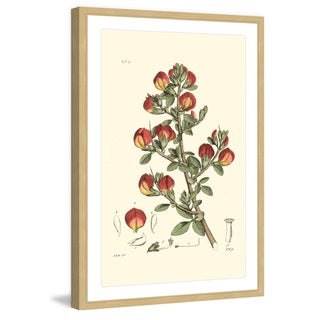 Marmont Hill - 'Antique Floral I' Framed Painting Print