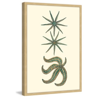Marmont Hill - 'Green Starfish' Framed Painting Print