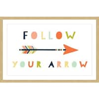 Marmont Hill - 'Follow Your Arrow' by Melanie Clarke Framed Painting Print - Multi