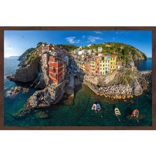 Marmont Hill - 'Riomaggiore' Framed Painting Print