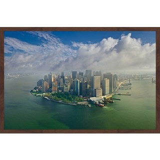 Marmont Hill - 'Manhattan Pano' Framed Painting Print
